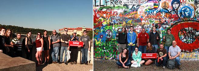 Northeast students visiting Praugue and Vienna