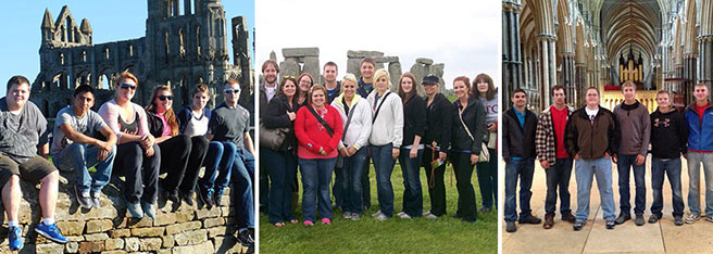 Northeast students visiting England in 2012.